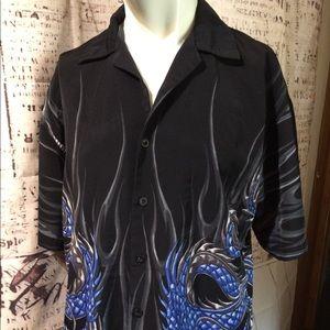 Rue 21 Vintage Black S shirt w/Blue Dragon